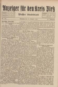 Anzeiger für den Kreis Pleß : Plesser Stadtblatt. Jg.81, Nr. 123 (19 Oktober 1932)