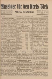 Anzeiger für den Kreis Pleß : Plesser Stadtblatt. Jg.81, Nr. 129 (9 November 1932)