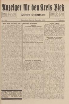 Anzeiger für den Kreis Pleß : Plesser Stadtblatt. Jg.81, Nr. 130 (12 November 1932)