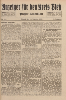 Anzeiger für den Kreis Pleß : Plesser Stadtblatt. Jg.81, Nr. 131 (16 November 1932)