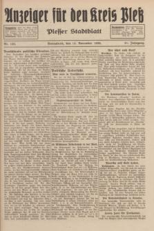 Anzeiger für den Kreis Pleß : Plesser Stadtblatt. Jg.81, Nr. 132 (19 November 1932)