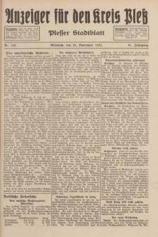 Anzeiger für den Kreis Pleß : Plesser Stadtblatt. Jg.81, Nr. 133 (23 November 1932)