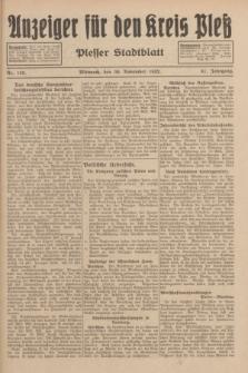 Anzeiger für den Kreis Pleß : Plesser Stadtblatt. Jg.81, Nr. 135 (30 November 1932)