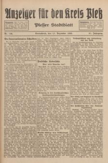 Anzeiger für den Kreis Pleß : Plesser Stadtblatt. Jg.81, Nr. 140 (17 Dezember 1932)