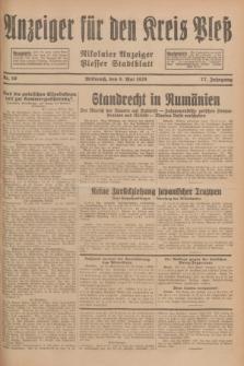Anzeiger für den Kreis Pleß : Nikolaier Anzeiger : Plesser Stadtblatt. Jg.77, Nr. 56 (9 Mai 1928)