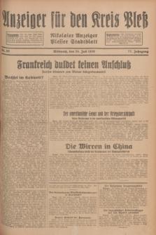 Anzeiger für den Kreis Pleß : Nikolaier Anzeiger : Plesser Stadtblatt. Jg.77, Nr. 89 (25 Juli 1928)