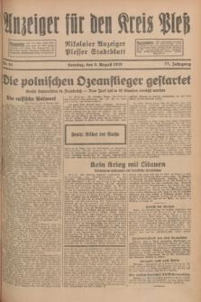 Anzeiger für den Kreis Pleß : Nikolaier Anzeiger : Plesser Stadtblatt. Jg.77, Nr. 94 (5 August 1928)