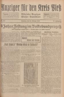 Anzeiger für den Kreis Pleß : Nikolaier Anzeiger : Plesser Stadtblatt. Jg.77, Nr. 124 (14 Oktober 1928)