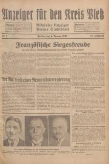 Anzeiger für den Kreis Pleß : Nikolaier Anzeiger : Plesser Stadtblatt. Jg.78, Nr. 2 (4 Januar 1929)