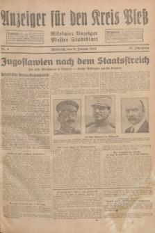 Anzeiger für den Kreis Pleß : Nikolaier Anzeiger : Plesser Stadtblatt. Jg.78, Nr. 4 (9 Januar 1929)