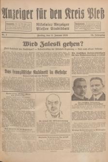 Anzeiger für den Kreis Pleß : Nikolaier Anzeiger : Plesser Stadtblatt. Jg.78, Nr. 5 (11 Januar 1929)