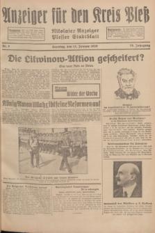 Anzeiger für den Kreis Pleß : Nikolaier Anzeiger : Plesser Stadtblatt. Jg.78, Nr. 6 (13 Januar 1929)