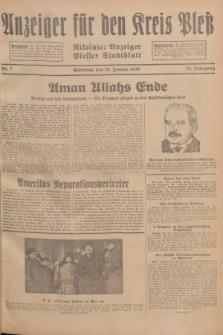 Anzeiger für den Kreis Pleß : Nikolaier Anzeiger : Plesser Stadtblatt. Jg.78, Nr. 7 (16 Januar 1929)