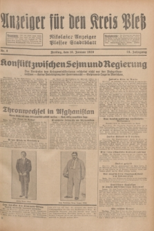 Anzeiger für den Kreis Pleß : Nikolaier Anzeiger : Plesser Stadtblatt. Jg.78, Nr. 8 (18 Januar 1929)