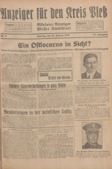 Anzeiger für den Kreis Pleß : Nikolaier Anzeiger : Plesser Stadtblatt. Jg.78, Nr. 9 (20 Januar 1929)
