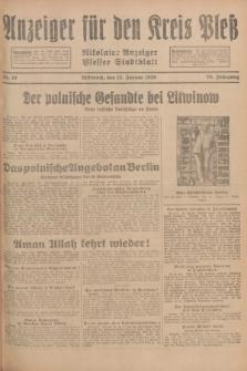 Anzeiger für den Kreis Pleß : Nikolaier Anzeiger : Plesser Stadtblatt. Jg.78, Nr. 10 (23 Januar 1929)