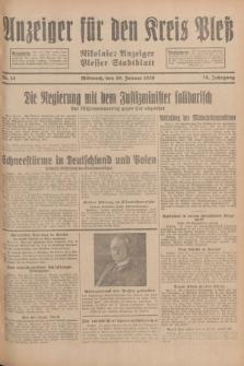 Anzeiger für den Kreis Pleß : Nikolaier Anzeiger : Plesser Stadtblatt. Jg.78, Nr. 13 (30 Januar 1929)
