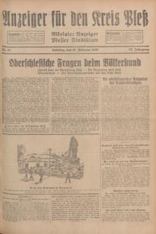 Anzeiger für den Kreis Pleß : Nikolaier Anzeiger : Plesser Stadtblatt. Jg.78, Nr. 21 (17 Februar 1929)