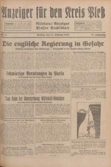 Anzeiger für den Kreis Pleß : Nikolaier Anzeiger : Plesser Stadtblatt. Jg.78, Nr. 23 (22 Februar 1929)
