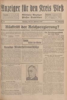 Anzeiger für den Kreis Pleß : Nikolaier Anzeiger : Plesser Stadtblatt. Jg.78, Nr. 24 (24 Februar 1929)