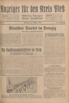 Anzeiger für den Kreis Pleß : Nikolaier Anzeiger : Plesser Stadtblatt. Jg.78, Nr. 26 (1 März 1929)