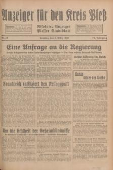 Anzeiger für den Kreis Pleß : Nikolaier Anzeiger : Plesser Stadtblatt. Jg.78, Nr. 27 (3 März 1929)