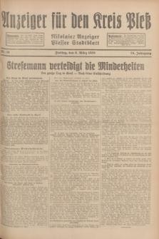 Anzeiger für den Kreis Pleß : Nikolaier Anzeiger : Plesser Stadtblatt. Jg.78, Nr. 29 (8 März 1929)