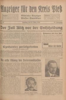Anzeiger für den Kreis Pleß : Nikolaier Anzeiger : Plesser Stadtblatt. Jg.78, Nr. 30 (10 März 1929)