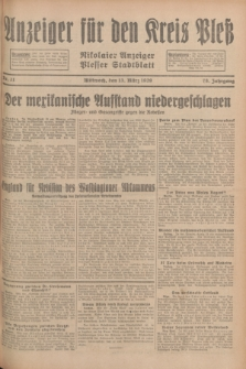 Anzeiger für den Kreis Pleß : Nikolaier Anzeiger : Plesser Stadtblatt. Jg.78, Nr. 31 (13 März 1929)