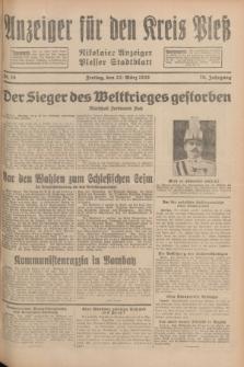 Anzeiger für den Kreis Pleß : Nikolaier Anzeiger : Plesser Stadtblatt. Jg.78, Nr. 35 (22 März 1929)