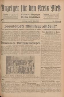 Anzeiger für den Kreis Pleß : Nikolaier Anzeiger : Plesser Stadtblatt. Jg.78, Nr. 38 (29 März 1929)