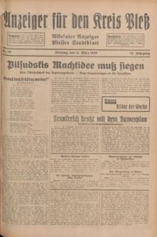 Anzeiger für den Kreis Pleß : Nikolaier Anzeiger : Plesser Stadtblatt. Jg.78, Nr. 39 (31 März 1929)