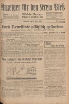 Anzeiger für den Kreis Pleß : Nikolaier Anzeiger : Plesser Stadtblatt. Jg.78, Nr. 48 (21 April 1929)