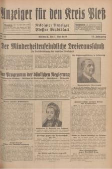 Anzeiger für den Kreis Pleß : Nikolaier Anzeiger : Plesser Stadtblatt. Jg.78, Nr. 52 (1 Mai 1929)