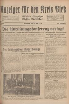 Anzeiger für den Kreis Pleß : Nikolaier Anzeiger : Plesser Stadtblatt. Jg.78, Nr. 55 (8 Mai 1929)