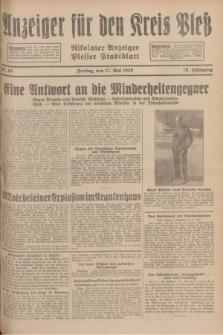Anzeiger für den Kreis Pleß : Nikolaier Anzeiger : Plesser Stadtblatt. Jg.78, Nr. 59 (17 Mai 1929)