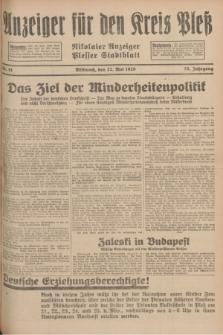 Anzeiger für den Kreis Pleß : Nikolaier Anzeiger : Plesser Stadtblatt. Jg.78, Nr. 61 (22 Mai 1929)