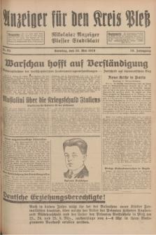 Anzeiger für den Kreis Pleß : Nikolaier Anzeiger : Plesser Stadtblatt. Jg.78, Nr. 63 (26 Mai 1929)
