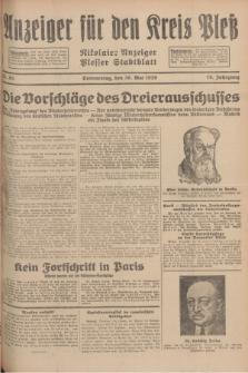 Anzeiger für den Kreis Pleß : Nikolaier Anzeiger : Plesser Stadtblatt. Jg.78, Nr. 65 (30 Mai 1929)
