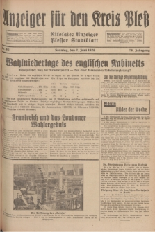 Anzeiger für den Kreis Pleß : Nikolaier Anzeiger : Plesser Stadtblatt. Jg.78, Nr. 66 (2 Juni 1929)