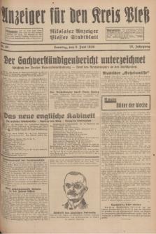 Anzeiger für den Kreis Pleß : Nikolaier Anzeiger : Plesser Stadtblatt. Jg.78, Nr. 69 (9 Juni 1929)