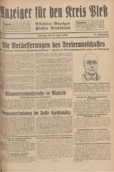 Anzeiger für den Kreis Pleß : Nikolaier Anzeiger : Plesser Stadtblatt. Jg.78, Nr. 71 (14 Juni 1929)