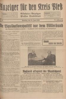 Anzeiger für den Kreis Pleß : Nikolaier Anzeiger : Plesser Stadtblatt. Jg.78, Nr. 72 (16 Juni 1929)