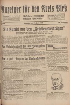 Anzeiger für den Kreis Pleß : Nikolaier Anzeiger : Plesser Stadtblatt. Jg.78, Nr. 75 (23 Juni 1929)