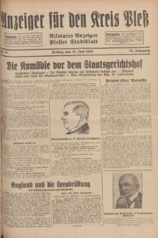 Anzeiger für den Kreis Pleß : Nikolaier Anzeiger : Plesser Stadtblatt. Jg.78, Nr. 77 (28 Juni 1929)