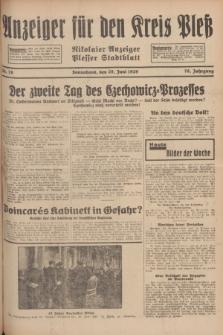 Anzeiger für den Kreis Pleß : Nikolaier Anzeiger : Plesser Stadtblatt. Jg.78, Nr. 78 (29 Juni 1929)