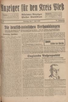 Anzeiger für den Kreis Pleß : Nikolaier Anzeiger : Plesser Stadtblatt. Jg.78, Nr. 81 (7 Juli 1929)