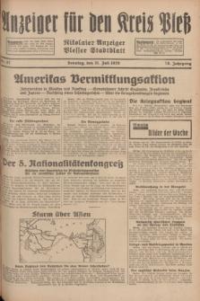 Anzeiger für den Kreis Pleß : Nikolaier Anzeiger : Plesser Stadtblatt. Jg.78, Nr. 87 (21 Juli 1929)