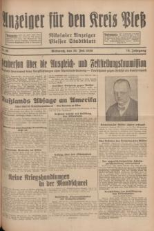 Anzeiger für den Kreis Pleß : Nikolaier Anzeiger : Plesser Stadtblatt. Jg.78, Nr. 88 (24 Juli 1929)