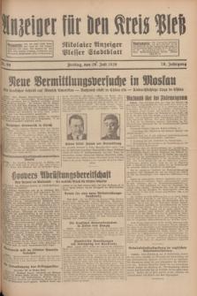 Anzeiger für den Kreis Pleß : Nikolaier Anzeiger : Plesser Stadtblatt. Jg.78, Nr. 89 (26 Juli 1929)